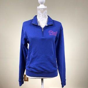 VS pink logo quarter zip jacket